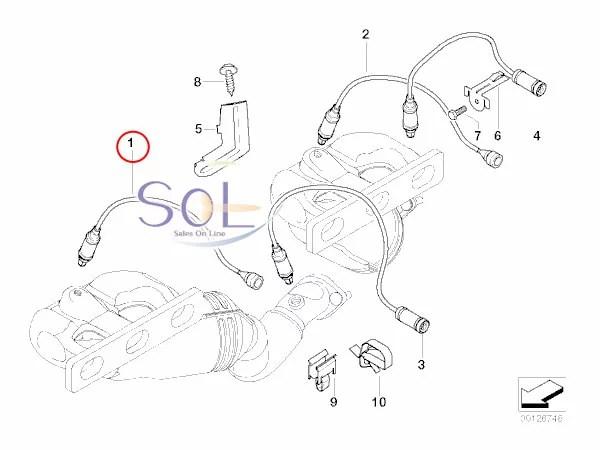 【楽天市場】BMW E83 X3 E53 X5 Z3 E85 Z4 ラムダコントロールセンサー(O2センサー