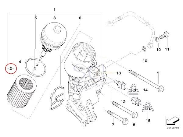 【楽天市場】BMW E36 E46 E39 エンジンオイルフィルター エレメントセット 320i 323i 325i