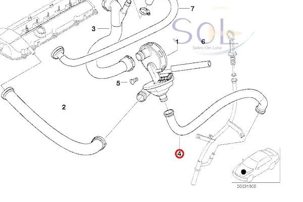 【楽天市場】BMW E39 E46 ブローバイホース プレッシャーバルブ/エアホース/エア抜きホース 525i