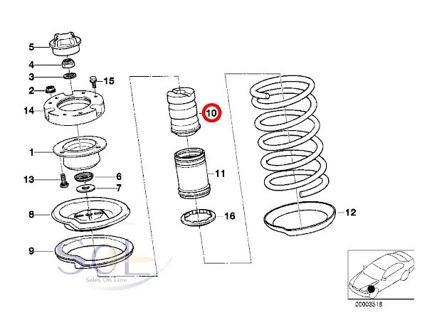 【楽天市場】BMW E34 E36 フロント ショック バンプラバー 補助ダンパー 左右共通 520i 525i