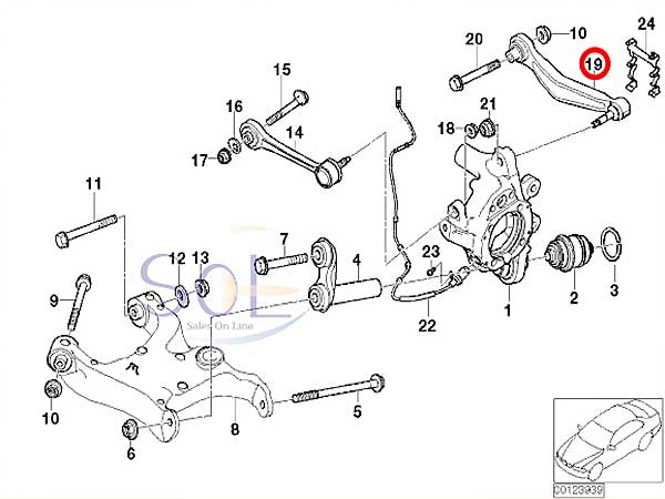 【楽天市場】BMW E65 E66 リア コントロールアーム / アッパーアーム 左右セット LEMFORDER