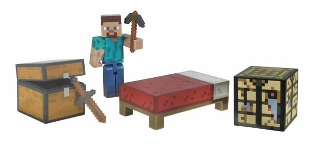 Minecraft 3インチ アクションフィギュア サバイバルパック スティーブ マインクラフト Survival Pack Action Figure 人形