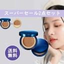 【2色選び)韓国 BBIA(ピアー) スパ光ファンデ SPF50+ PA+++ NEW ラストクッション(本体21g+詰替 各1個)