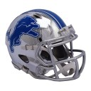 NFL ライオンズ ミニ ヘルメット フットボール クローム オルタネート スピード リデル/Riddell【1902NFLセール】