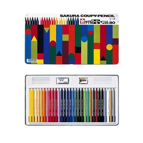 (KC)【在庫あり・包装無料】サクラクレパス クーピーペンシル 30色 色鉛筆  FY30