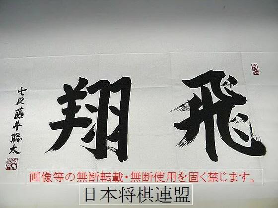藤井聡太 手拭 (白)「飛翔」