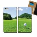 iPhone SE 第2世代 iPhoneSE2 スマホ ケース 手帳型 ベルトなし ゴルフ GOLF 芝生 グリーン パ……