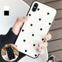 【メール便/送料無料】iPhoneケース フィルムorスマホリングつき ハートドット iPhoneXR iPhon……