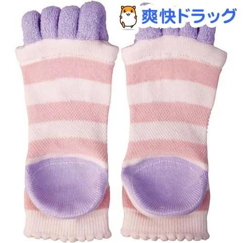眠れる森の5本指かかとソックス ピンク(1足)【眠れる森シリーズ】