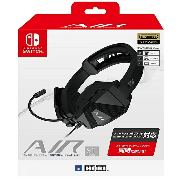 【新品】【即納】【Nintendo Switch対応】ゲーミングヘッドセット AIR STEREO for Nintendo Switch スマートフォン向け 「オンラインロビー&ボイスチャット」アプリ対応