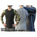アメリカ軍スリムフィットタクティカルレーニングアンダーシャツ長袖 YM615004 ウッドランド M 【レプリカ】