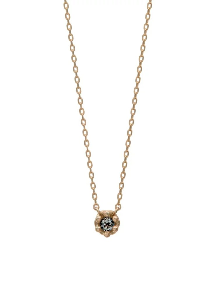 giulietta by Ponte Vecchio (W)[誕生石:4月]K10YGブラックダイヤモンド/ダイヤモンドネックレス(リバーシ...