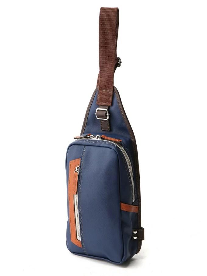Otias (M)オティアス Otias/PVC(合成皮革)タテ型ボディバッグ アンビリオン バッグ