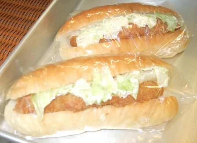 白身魚サンド