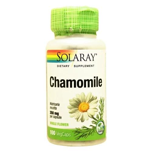 カモミール 350mg 100粒[サプリメント/健康サプリ/サプリ/植物/ハーブ/SOLARAY/ソ