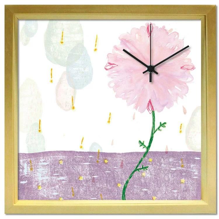 掛け時計 星の音、花の時【山路絵子】 音がしない 壁掛け時計 おしゃれ モダン デザイン時計【アーティスト...