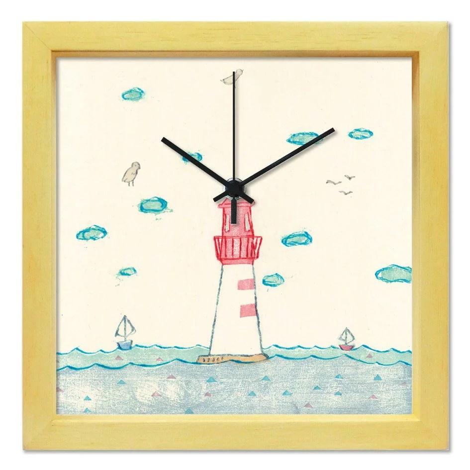 掛け時計 ひねもすのたり【山路絵子】 音がしない かわいい 壁掛け時計 おしゃれ 絵 コンパクト ナチュラル...