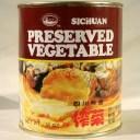 (送料無料・代引不可)四川搾菜 全形1kg/缶 四川ザーサイホール