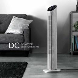 【送料無料】DC 扇風機 木目 タワー DC モーター おし