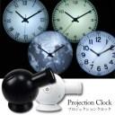 送料無料 LEDライトを使用したプロジェクション式の時計 プロジェクションクロック Projection clock. 時計 プロジェクション LED アナルグクロック 卓上 天井 アナログクロックディスプレイ ブラック ホワイト 時計の通販 tempoo