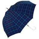 【ママ割エントリーでポイント6倍】【w.p.c】 晴雨兼用 手開き傘 長傘「アンヌレラ(トラッドチェック)」