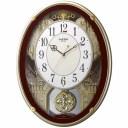 リズム時計 4MN523RH06(茶メタリック色) スモールワールドプラウド 電波掛時計