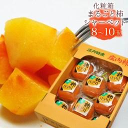 送料無料 まるごと柿シャーベット(8-10玉前後)※国産 山