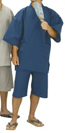 踊り衣裳 しじら織甚平 甚印 藍色 取り寄せ商品 日本の踊り 掲載 夏祭り 甚平 普段着 メール便不可《男性用 メンズ》 ポイント20倍