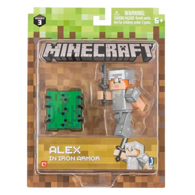マインクラフト フィギュア シリーズ3 アレックスとアイアンアーマー パック