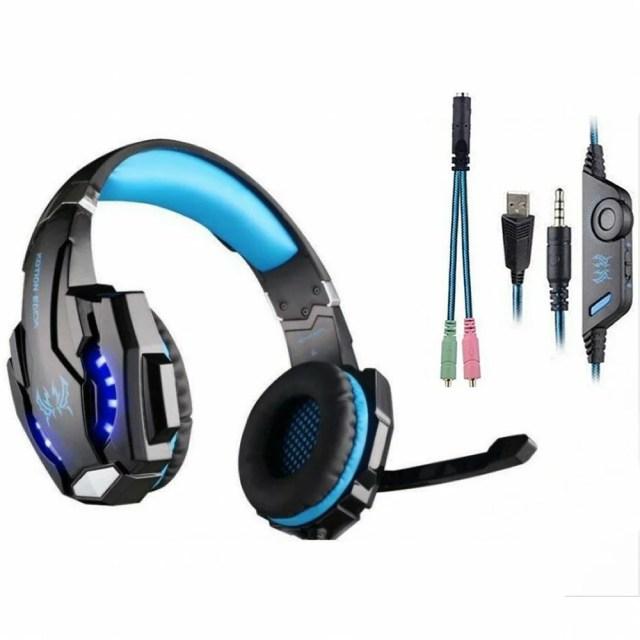PS4対応 ゲーミングヘッドセット LED発光 ヘッドフォン ヘッドホン 高集音性マイク[送料無料(一部地域を除く)]