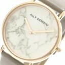 アリーデノヴォ 腕時計 レディース ALLY DENOVO 36mm AF5005-7 CARRARA MARBLE ホワイト グレージュ ローズゴールド 人気 ブランド ア..