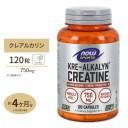 クレアルカリン クレアチン 120粒 カプセル NOW Foodsスポーツ 筋トレ パワー アスリート ナウ