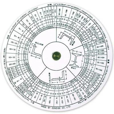 【楽天市場】コンサイス 定規 円形計算尺 重量計算器 100843 ...