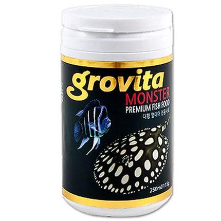 그로비타 몬스터 대형 육식 열대어 전용사료, 250ml, 1개