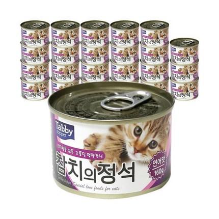 테비 참치의정석 고양이 간식캔 참치 160g, 연어, 24개입