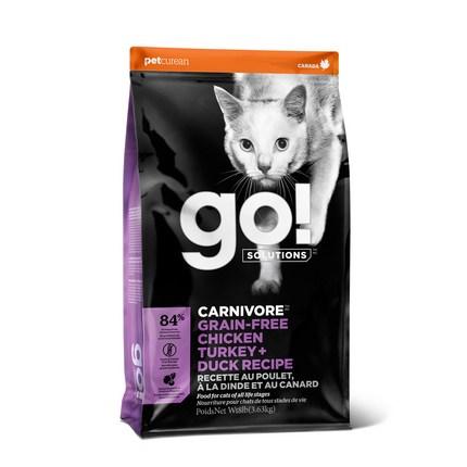 go 전연련용 솔루션 카니보 레시피 고양이 건식 사료, 닭, 3.63kg