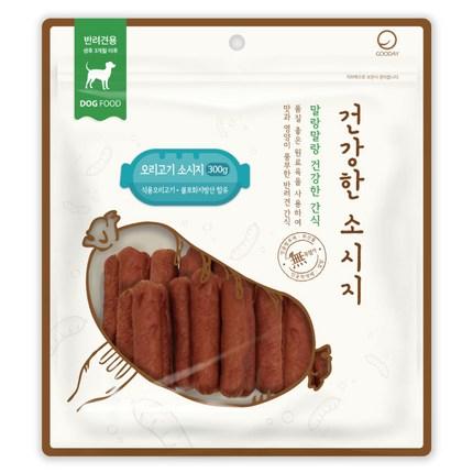 굿데이 건강한 소시지 강아지간식 300g, 오리고기 맛, 1개