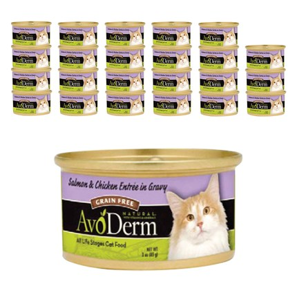 아보덤 그레인프리 고양이 주식캔 85g, 연어 + 치킨 혼합맛, 24개