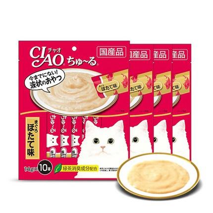 이나바 챠오츄르 고양이 간식 14g SC125, 참치 + 조갯살 혼합맛, 40개