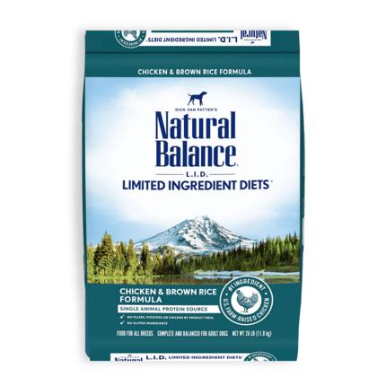 내추럴발란스 어덜트 LID 포뮬라 강아지 사료, 11.8kg, 닭 앤 현미