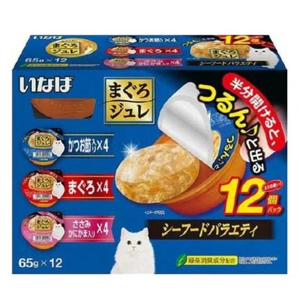 이나바 마구로쥬레 버라이어티 12P 고양이 간식, 씨푸드 버라이어티 12P