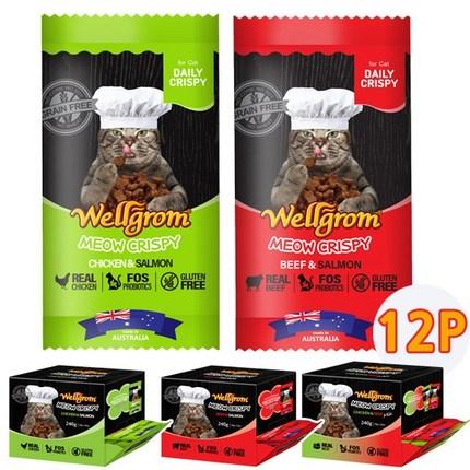 웰그롬 미우 크리스피 고양이 비스켓 12p (2Px6개 1회만증정), 1개, 치킨+비프(믹스)