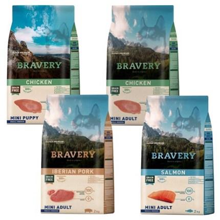 브레이버리 강아지사료 모음 (치킨 연어 이베리안포크), (강아지)어덜트 연어 2kg