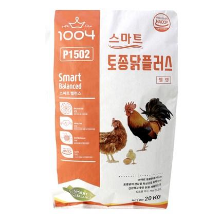 닭사료 스마트토종닭플러스20kg(펠렛) 닭모이, 20kg, 1개