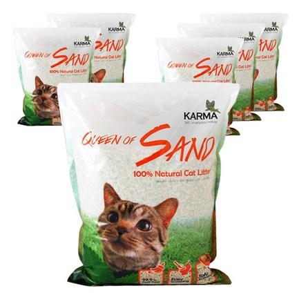 카르마 퀸오브샌드 고양이 모래 오리지널, 7L, 6개
