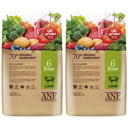 ANF 유기농 6Free 양고기 전연령 애견 사료, 양, 6kg, 2개