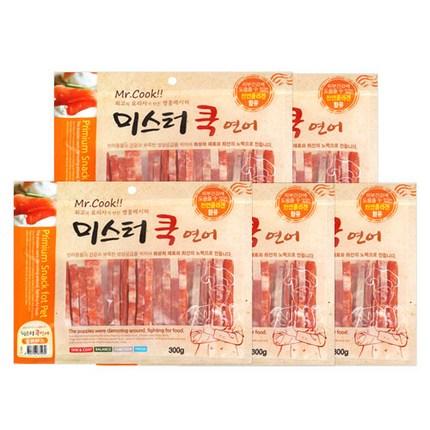 미스터쿡 강아지 간식 슬라이스, 연어맛, 5개입