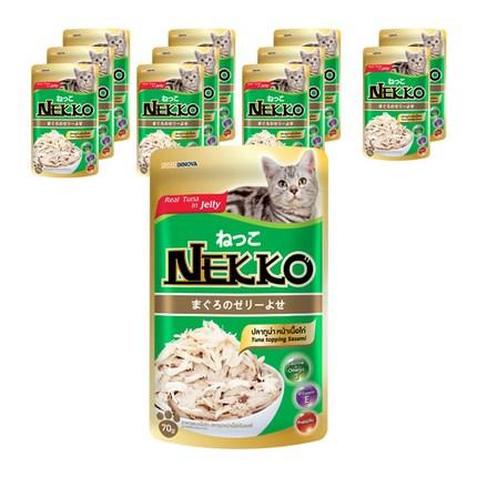 네코 필수영양소 고양이 간식, 참치 토핑 사시미, 12개