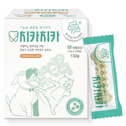 굿데이 치카치카 강아지 덴탈껌 132g, 장 건강, 1개