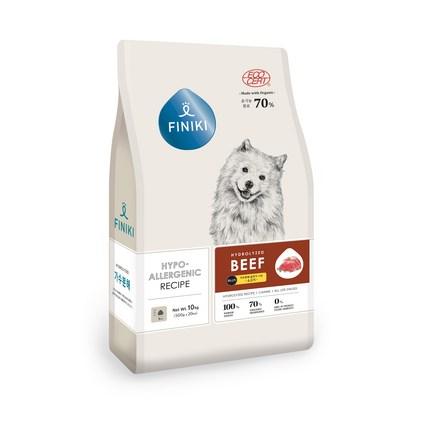 피니키 가수분해 강아지 사료 소고기, 소, 10kg